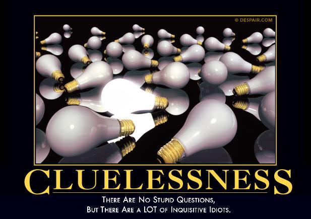 cluelessness demotivator