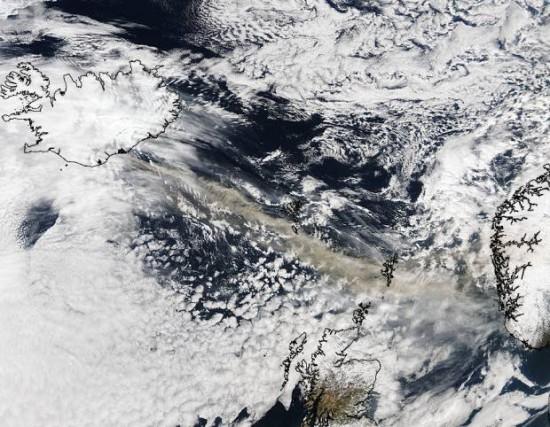 Nuages de cendres du volcan islandais