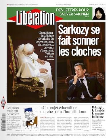 Une de Libé, papalement tendance