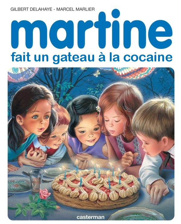 Martine fait un gteau  la coke