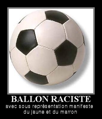 ballon raciste