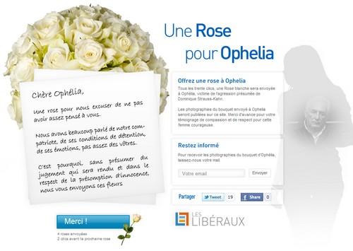 Des roses pour Ophélia
