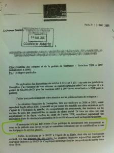 Seafrance -  rapport Cour des Comptes