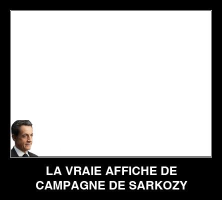 La vraie affiche de sarkozy