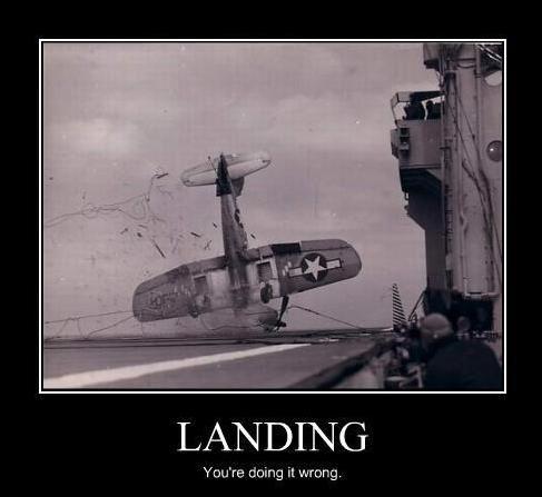 landing a plane : you're doing it wrong