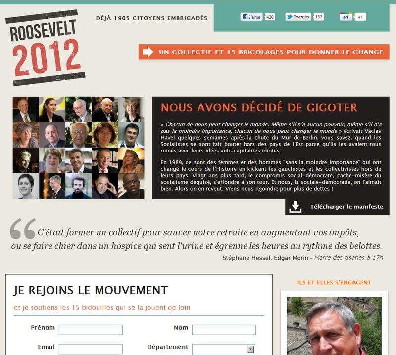 roosevelt2012, un collectif qui sent l'urine ou le sapin, c'est selon