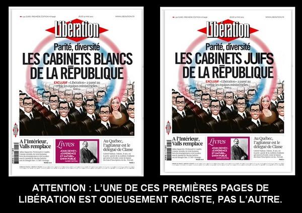 Libération : les cabinets (blancs/juifs/noirs/discriminants) de la république