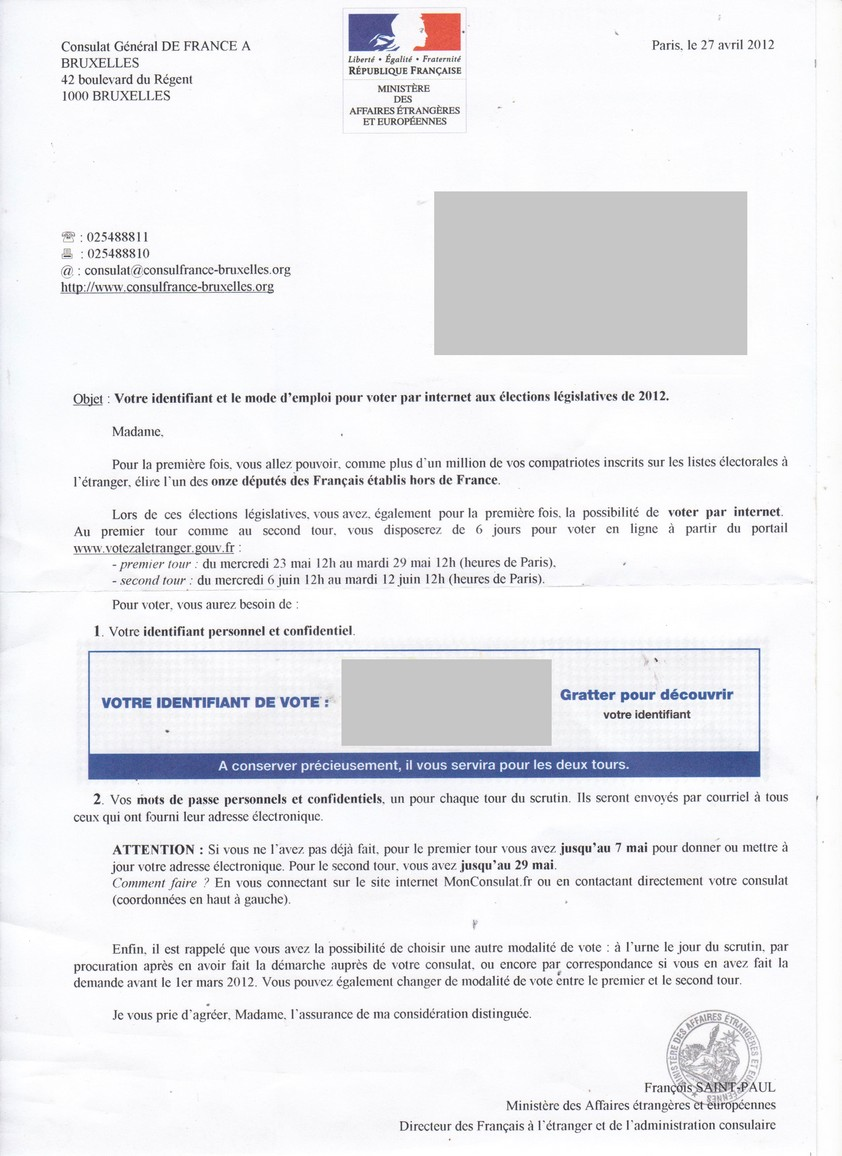 Lettre de motivation au vote électronique