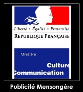 Ministère de la culture : publicité mensongère