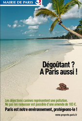 Campagne anti-crotte à Paris