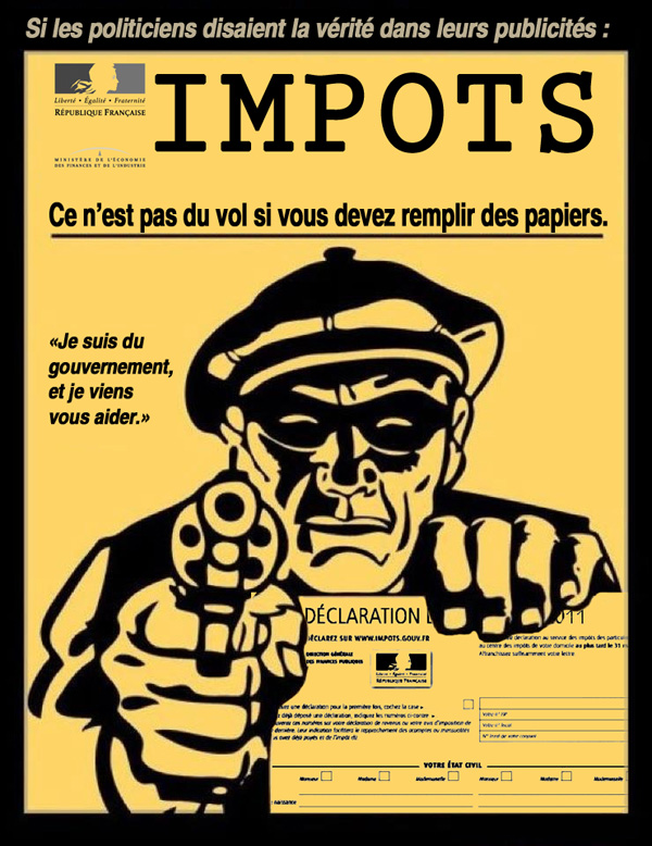 impots : ce n&#039;est pas du vol si on vous demande de remplir des papiers.
