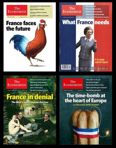 unes de The Economist consacrées à la France