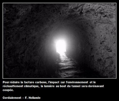 La lumière au bout du couloir sera coupée par Hollande