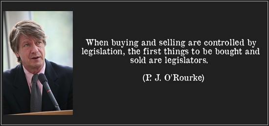 pj orourke : acheter le législateur