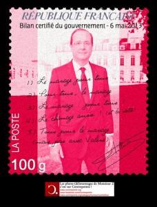 """Timbre commémoratif  """"1 an de Hollande à l'Élysée"""""""
