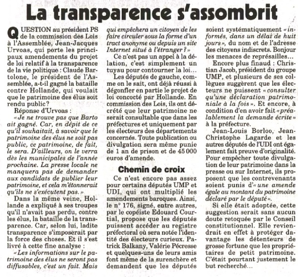 canard enchaine - transparence