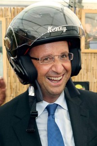 hollande et son casque