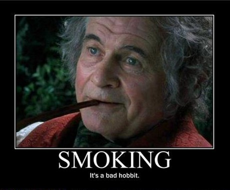 smoking : bad hobbit