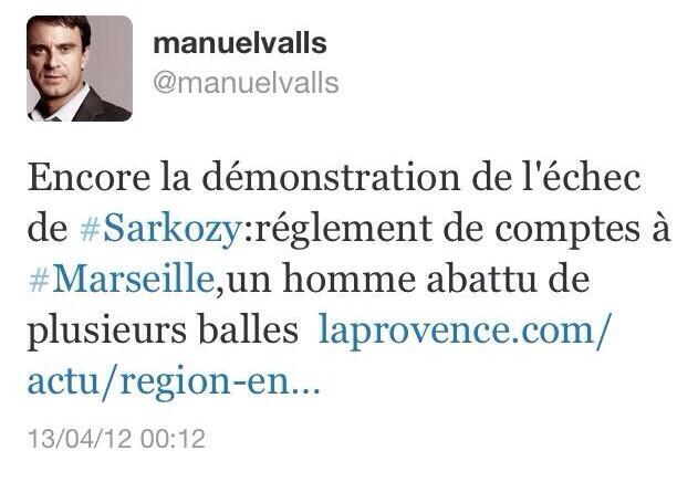 twitt de Valls ... en 2012