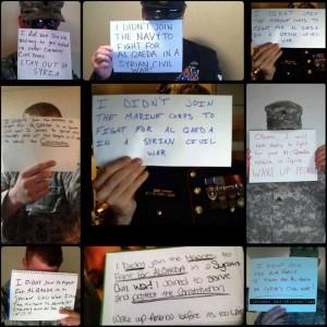 soldats américains contre la guerre en syrie