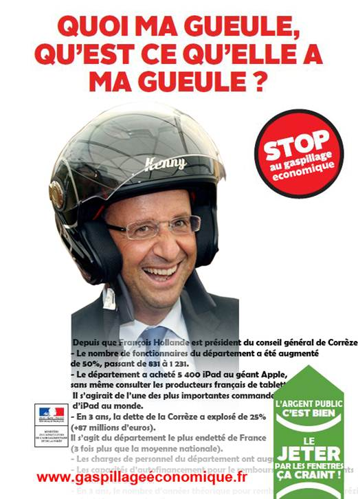 hollande : stop au gaspi