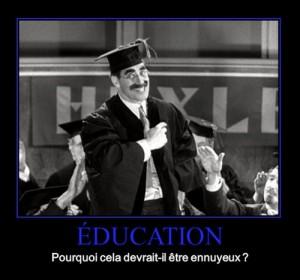 éducation ennuyeuse
