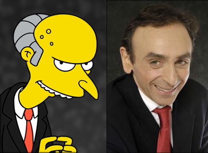 zemmour is mr burns