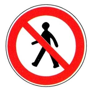 interdit piétons