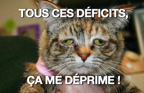depressed cat - déficits