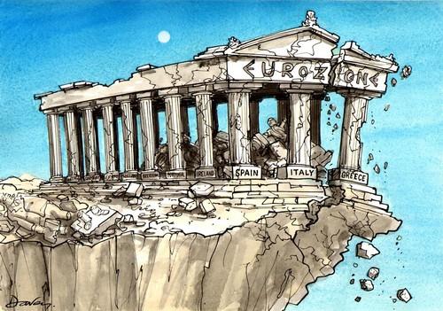 crise grecque - eurozone crumbling