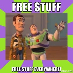 free stuff everywhere