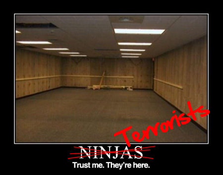 ninjas terrorists are here