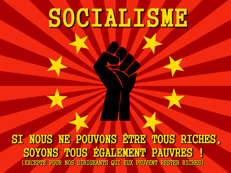 socialisme - pas riches également pauvres