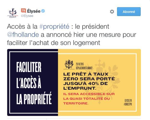 tweet élysée PTZ