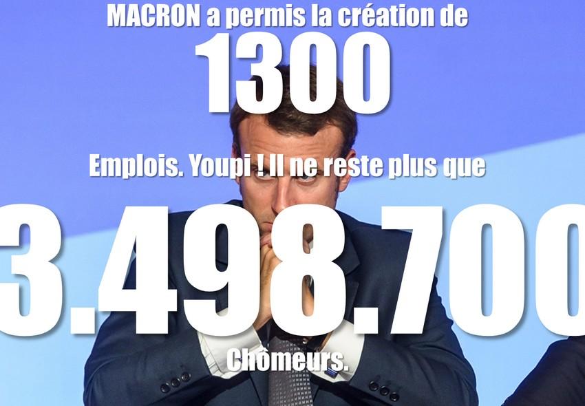macron - 1300 emplois
