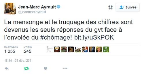 tweet ayrault chômage