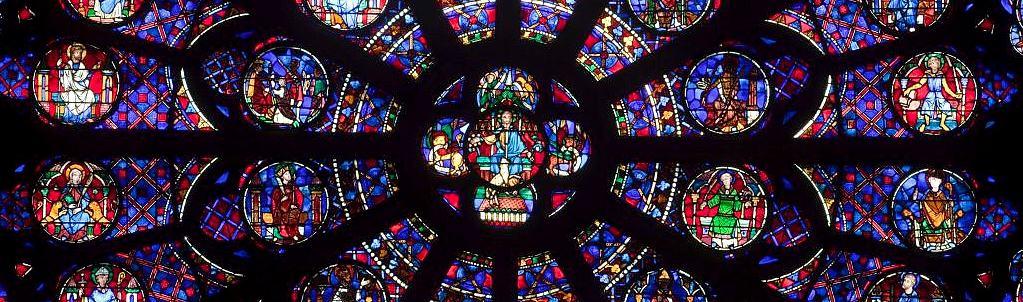 vitraux de la rosace de notre dame de paris