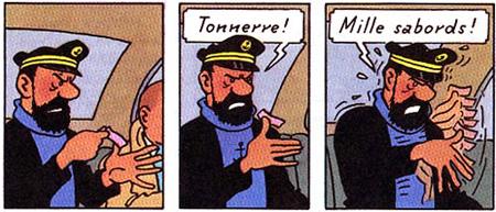 (Sparadrap de Haddock) Saleté de nom d'une pipe de truc qui ne veut pas partir !