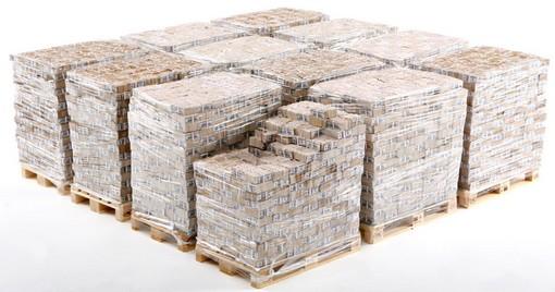 1 milliard, en shrink wrapped.