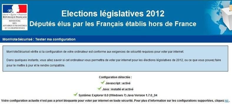 Vote électronique : vérification de la configuration