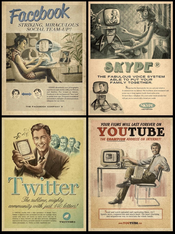 pub vintages facebook, youtube, twitter, skype