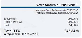 facture edf - total