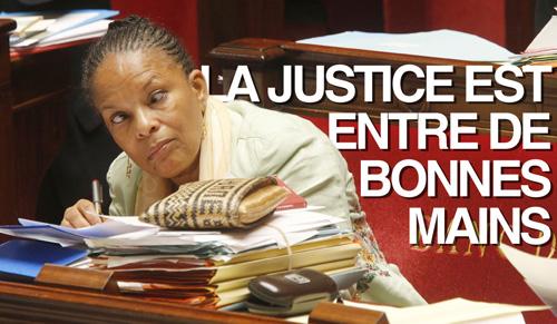 christiane taubira : la justice est entre de bonnes mains