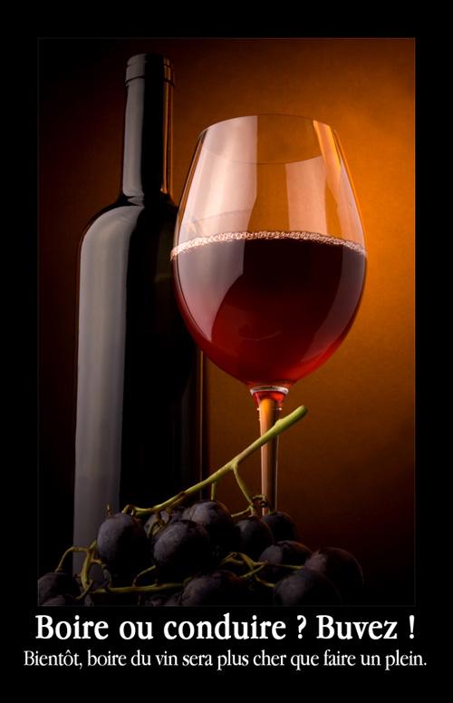 taxe sur le vin - boire ou conduire