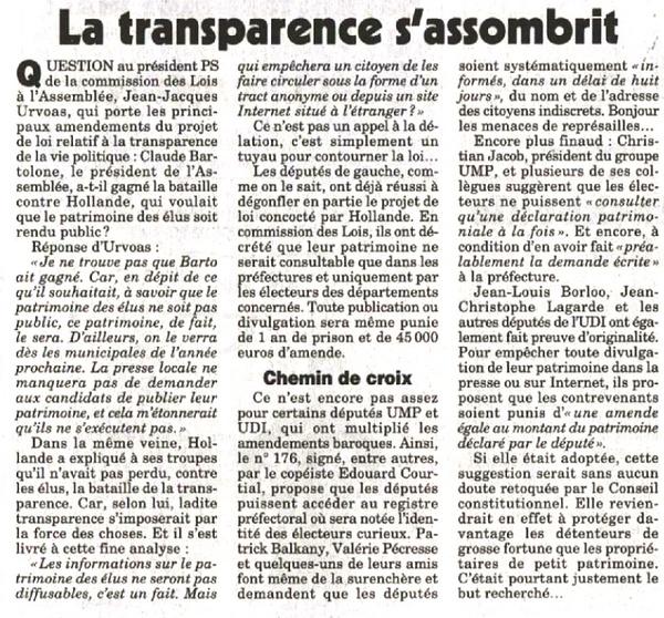 canard enchaine - transparence
