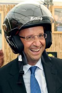 hollande et son casque