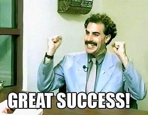 great success - Borat