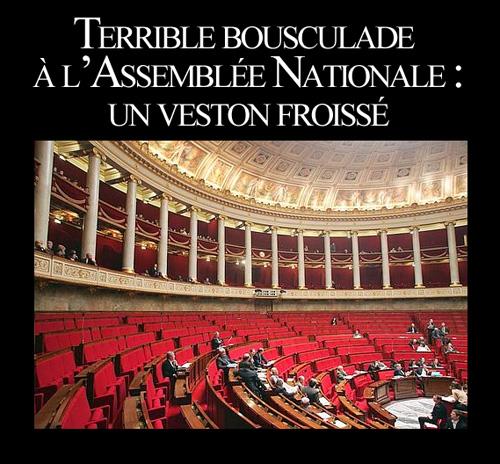 bousculade à l'assemblée nationale