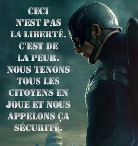 captain america - liberté sécurité