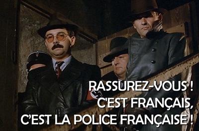 C'est la police française !
